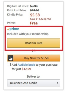 One of my favorite Amazon Prime features — free books and magazines